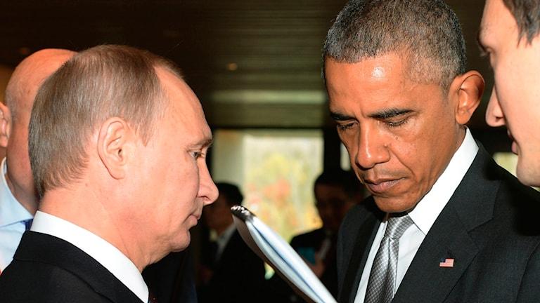 Putin och Obama. Foto: AP/TT