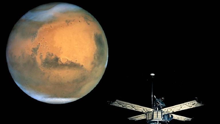 Om det finns flytande vatten på Mars yta kan innebära en historisk rymdnyhet. Foto: NASA.