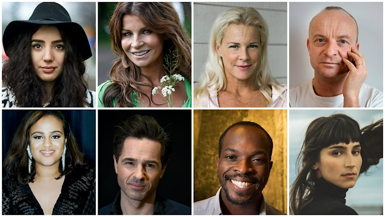 Några av artisterna som ska medverka på galan. Foto: TT. Montage: Sveriges Radio.