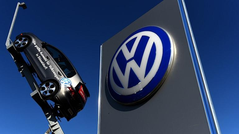 Återförsäljare för Volkswagen. Foto: Patrik Stollarz/TT.