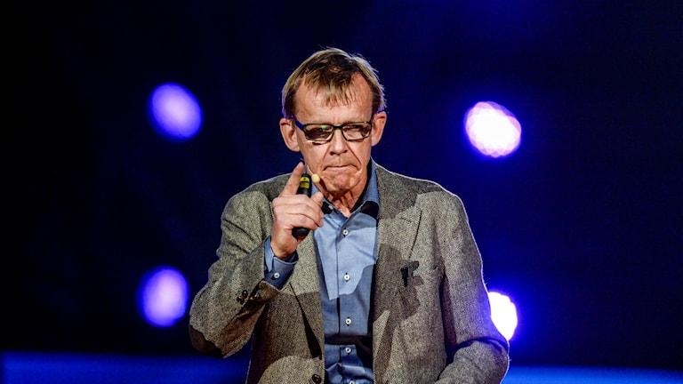 Hans Rosling på en scen.  Foto: Jessica Gow / TT