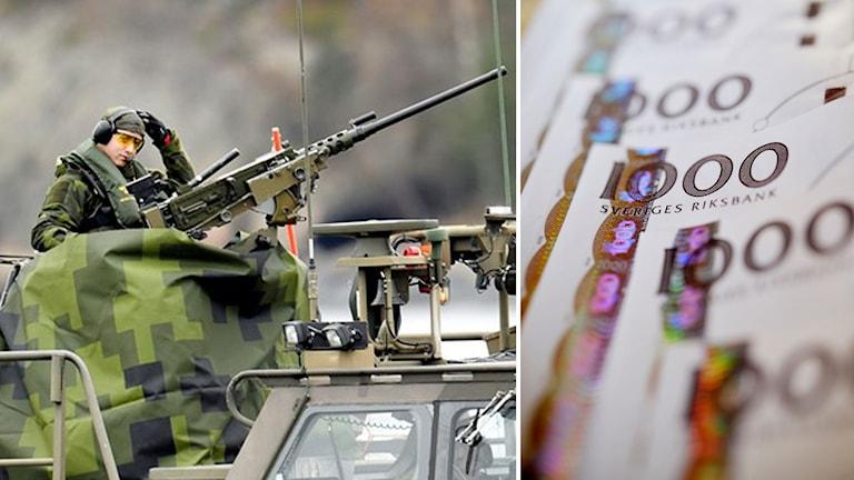 Försvarets nya pengar går till övningar, förband, personal och materiel. Foto: TT