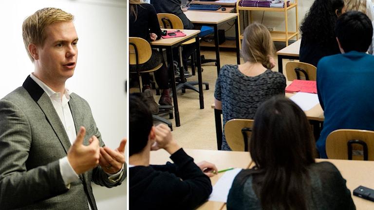 Gustav Fridolin, utbildningsminister.  Foto: Fredrik Sandberg/TT