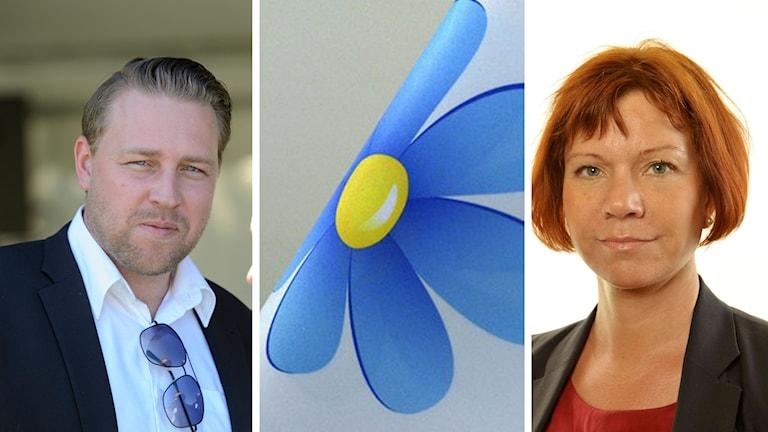 Mattias Karlsson om Margareta Svenssons avhopp. Foto: TT samt Riksdagen