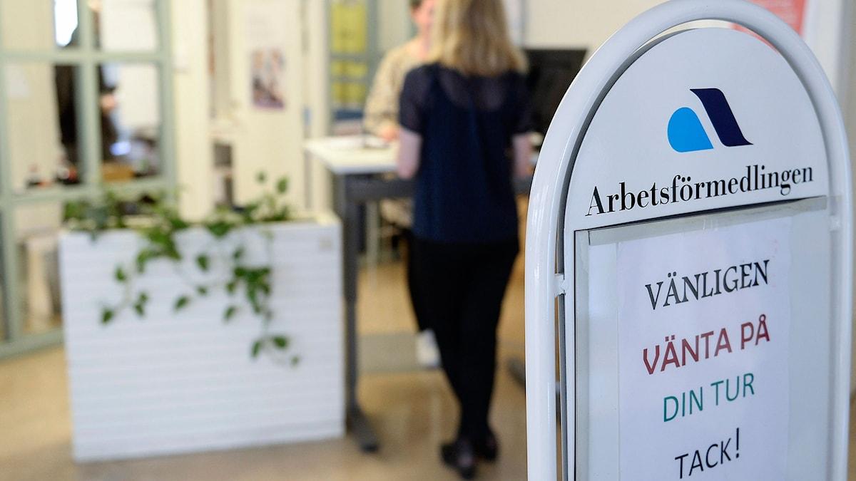 Arbetsförmedlingen på Södermalm i Stockholm. Foto Bertil Ericson / TT.