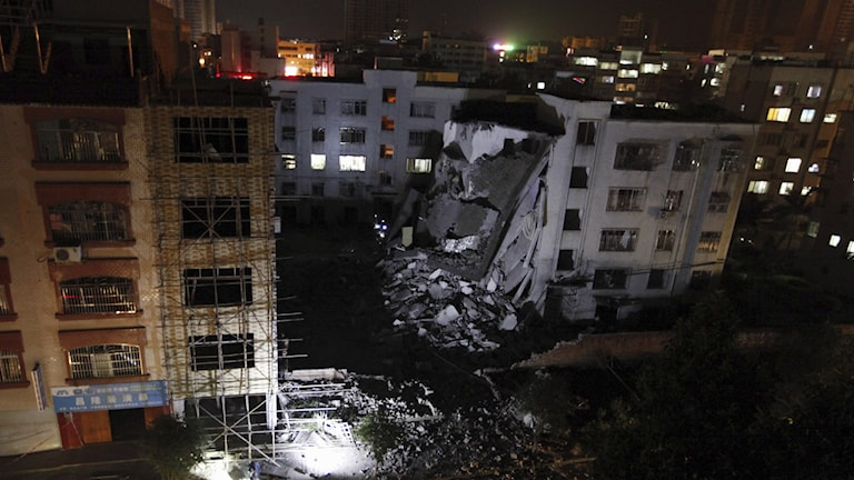 Explosioner i Kina. Foto: China out / AP