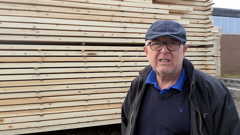 Christer Lundberg, vd på Lundbergs trä i Arvidsjaur.