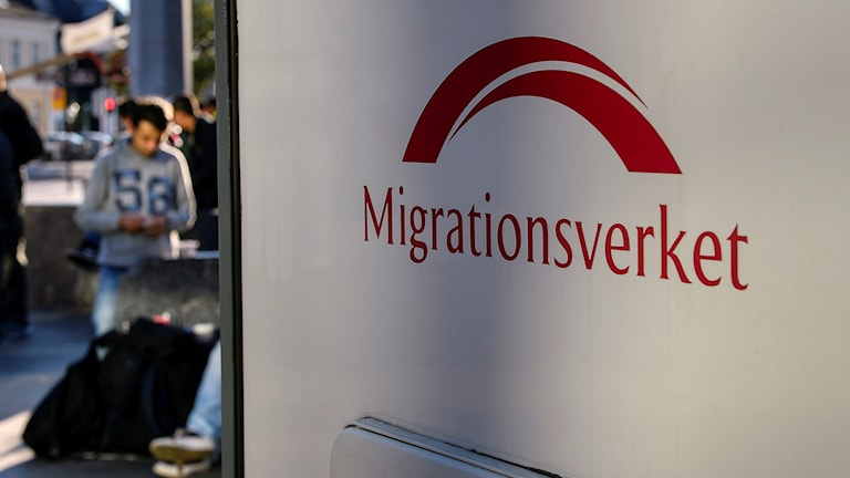 Migrationsverkets logga. Foto: Anders Wiklund/TT.