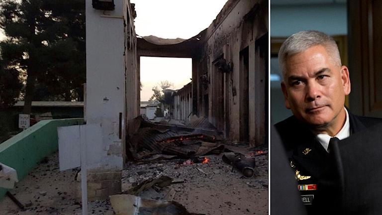 John Campbell säger att USA tar på sig ansvaret för bombningarna. Foto: Carolyn Kaster /TT
