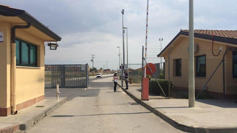 Asylmottagningen Cara di Mineo på Sicilien. Foto: Beatrice Janzon/Sveriges Radio.