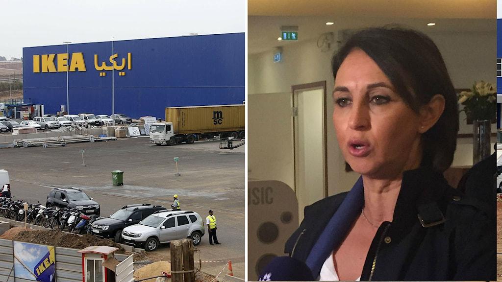 Öppnandet av IKEA stoppades. Nabila Mounib vill inte att Sverige ska erkänna Västsahara. Foto: TT / Adam Westin, SR