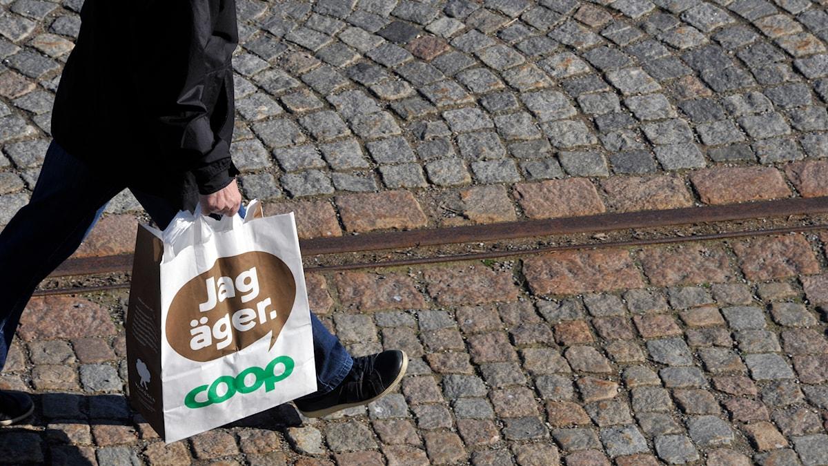 Två Coop-butiker är åtalade i Arbetsdomstolen. Arkivfoto: Hasse Holmberg / TT