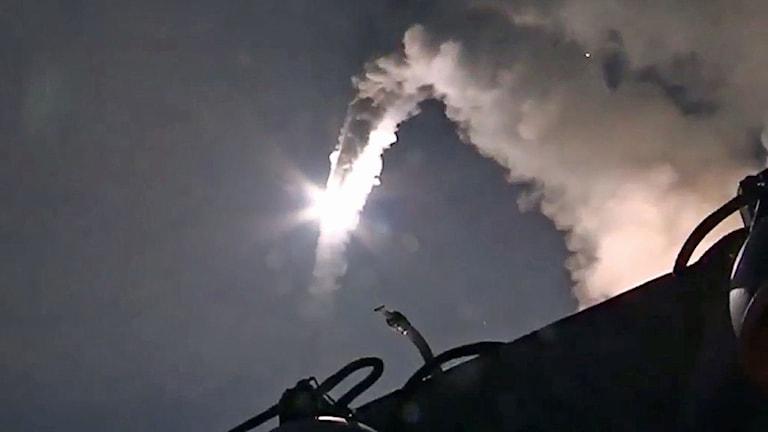 Uppskjutning av en rysk kryssningsrobot.