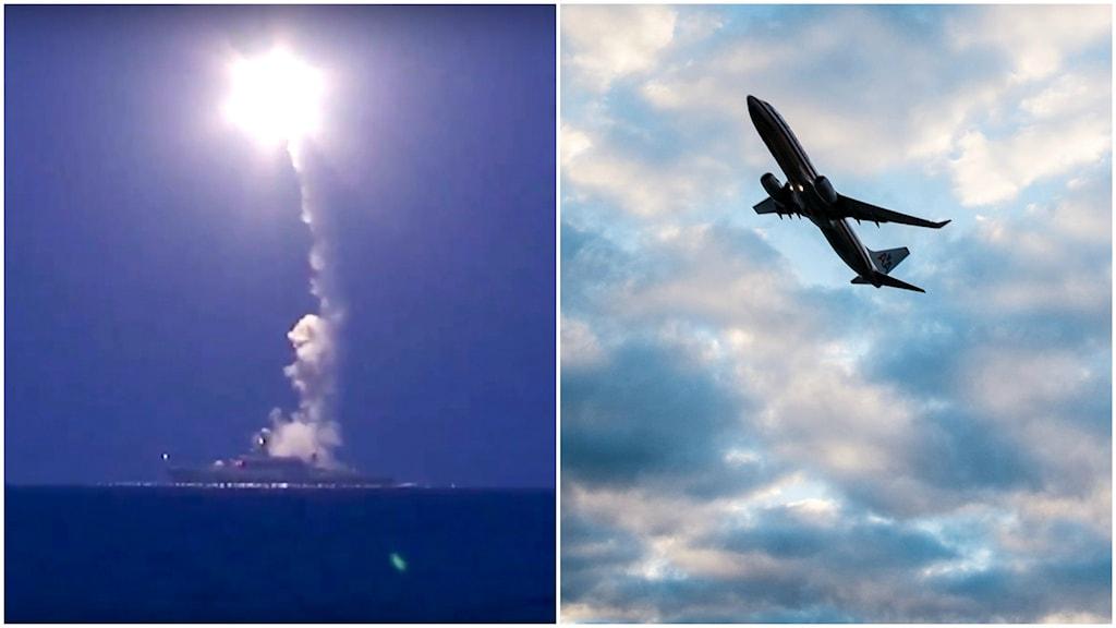 Ryssland avfyrar långdistansmissiler (arkivbild). Foto: TT.