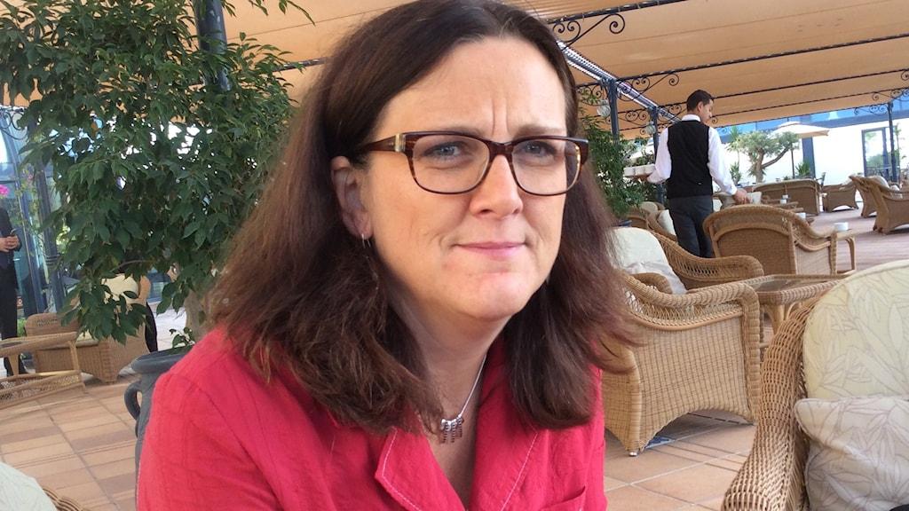 Ceciliage Malmström i Tunisien. Foto: Fanny Härgestam / Sveriges Radio