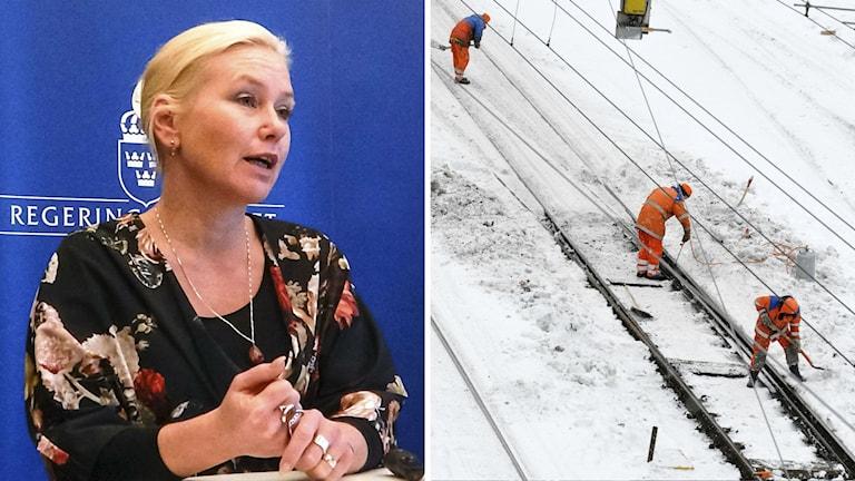Infrastrukturminister Anna Johansson tycker att beredskapen är god. Foto: TT