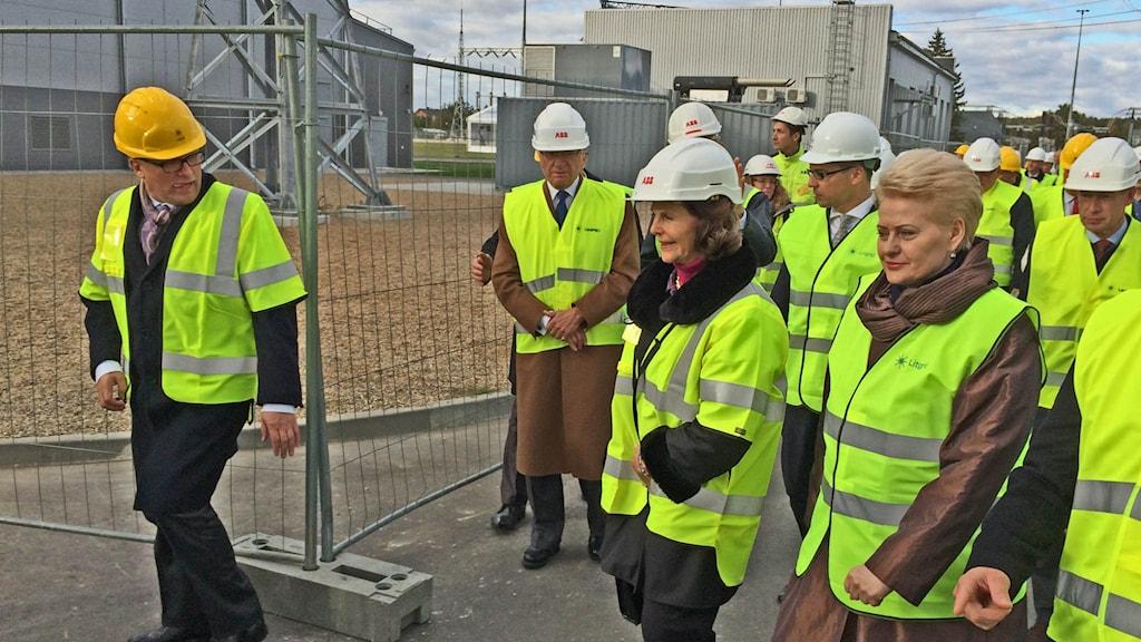 Litauens president Dalia Grybauskaite. Kung Carl Gustaf och drottning Silvia. Foto: Bengt Hansell/Sveriges Radio.