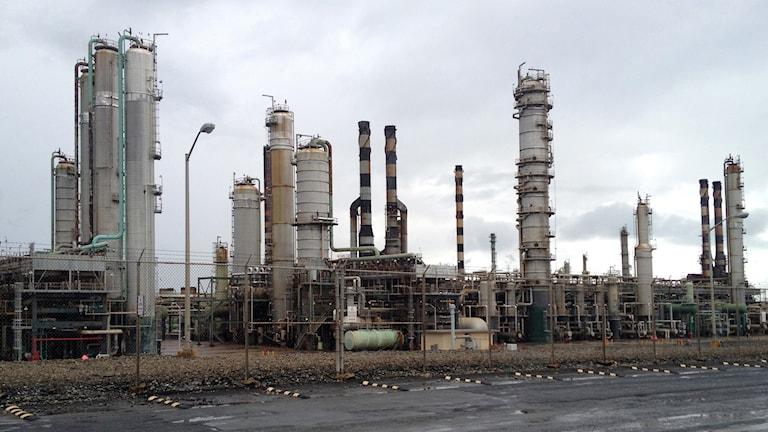 Oljeraffinaderi. Foto: Jason Bronis/TT