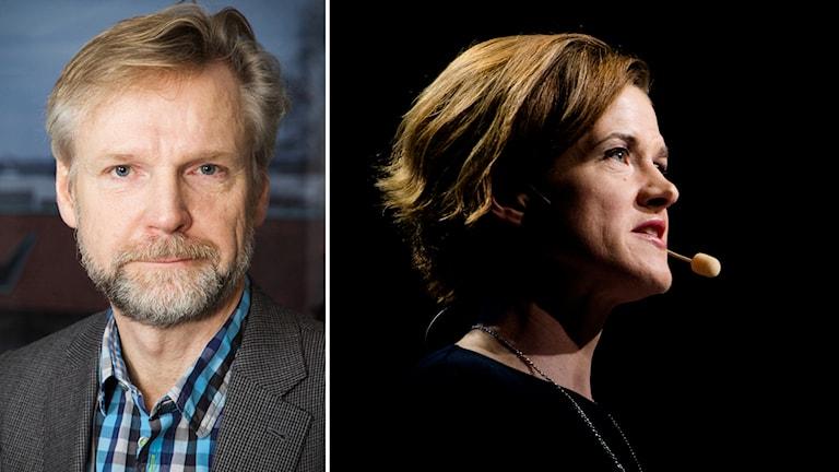 Tomas Ramberg och Anna Kinberg Batra (M). Foto: Pablo Dalence/Sveriges Radio och Fredrik Karlsson/TT