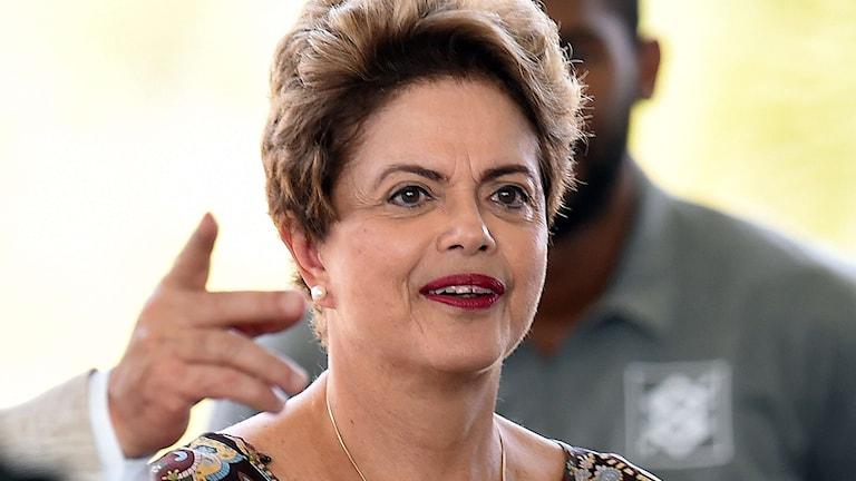 Brasiliens president Dilma Rousseff är på sverigebesök. Foto: Evaristo Sa/TT