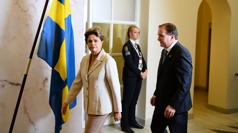 Brazil's president Dilma Rousseff meets with Sweden's prime minister Stefan Löfven in Stockholm. Photo: Maja Suslin / TT