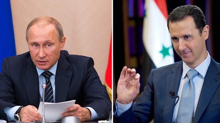 Syriens president Bashar al-Assad har varit på besök i Moskva. Foto: TT