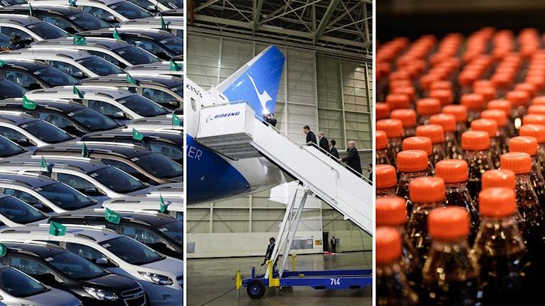 Boeing, Coca Cola, General Motors
