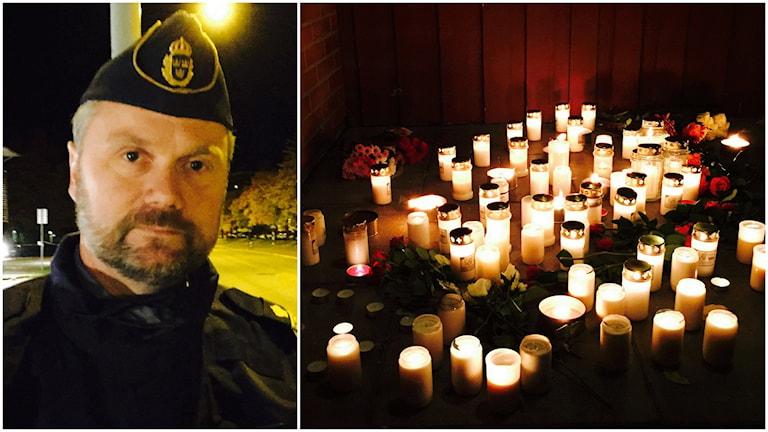 Polisens kommenderingschef Niklas Hallgren. Foto: Jens Möller/SR.