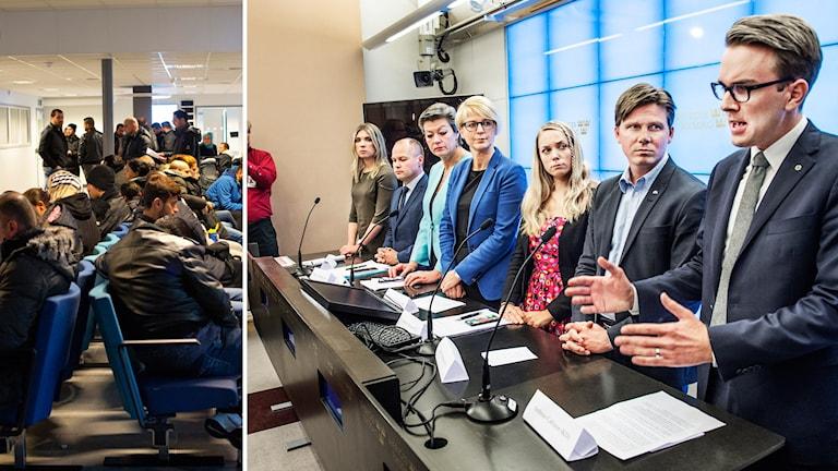 Lagändringen om tillfälliga uppehållstillstånd kommer inte att genomföras iår. Foto: Drago Prvulovic, Vilhelm Stokstad  / TT