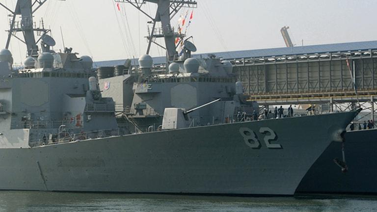 Den amerikanska jagaren USS Lassen. Foto: TT