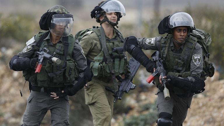 Israeliska gränspoliser. Foto: Majdi Mohammed/TT.