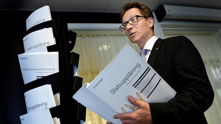 Riksgäldens generaldirektör Hans Lindblad. Foto: Tomas Oneborg/TT.