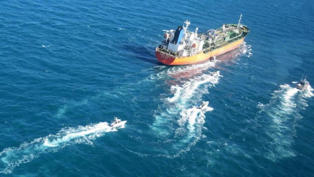 Iran beslagtog på måndagen en sydkoreansk oljetanker