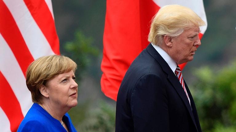 Angela Merkel & Donald Trump