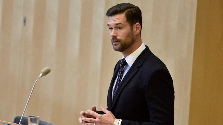 Johan Forsell, Moderaternas migrationspolitiske talesperson. Foto: Claudio Bresciani/TT