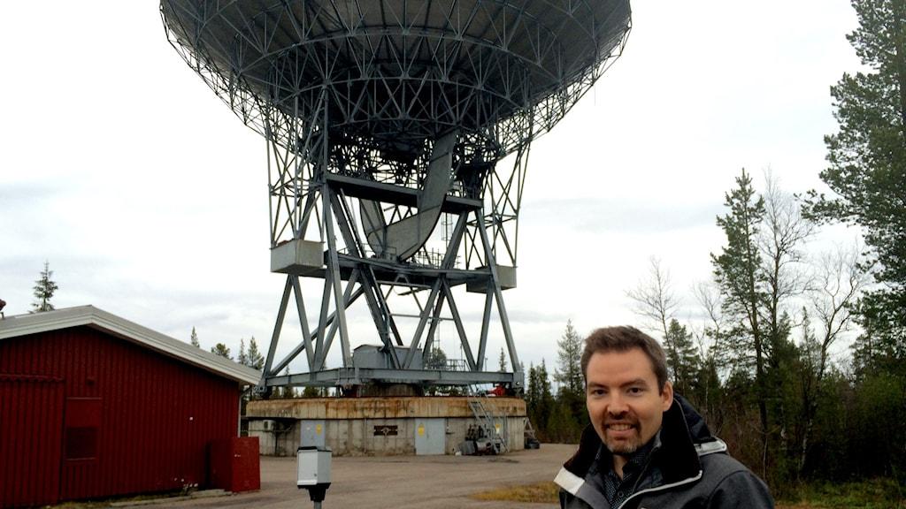 Johan Kero, forskare på IRF i Kiruna,