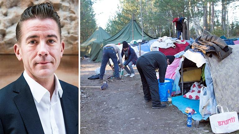 Martin Valfridsson, nationell samordnare för utsatta EU-medborgare som tillfälligt vistas i Sverige. Foto: Nora Lorek/TT.