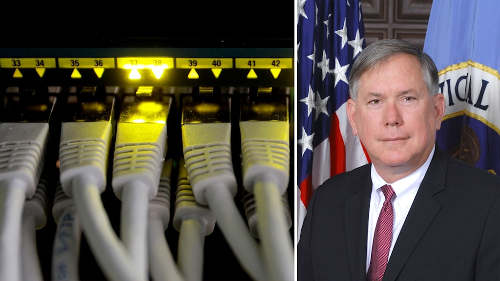 Nätverkssladdar och den tidigare biträdande chefen för den amerikanska underrättelsetjänsten NSA, Richard Ledgett.