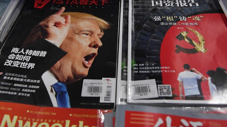 Donald Trump är ett hett ämne i kinesisk press