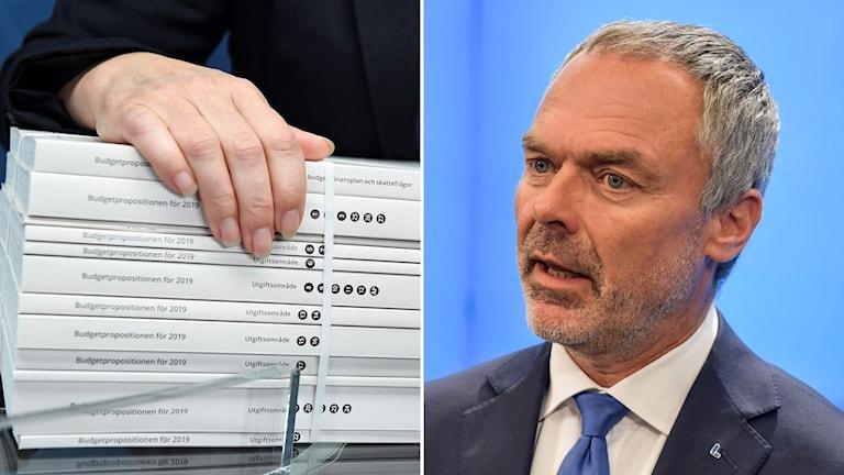 Liberalernas partiledare Jan Björklund (L) säger nej till Alliansbudget
