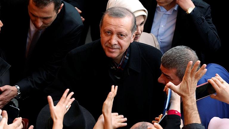 Turkiets president Recep Tayyip Erdogan. Foto: Emrag Gurel/Sveriges Radio.