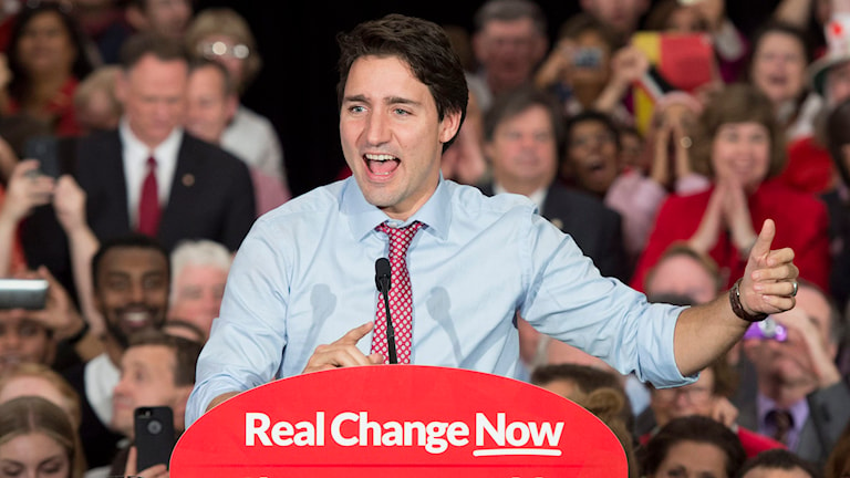 Justin Trudeau. Foto: Adrian Wyld/TT.