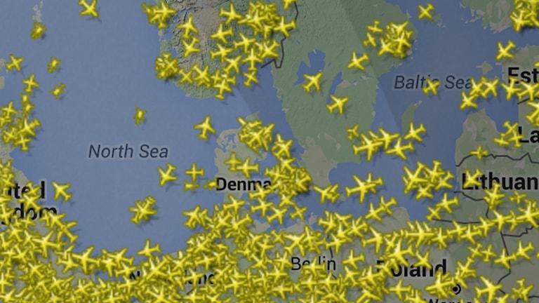 Skrärmdump: Flightradar