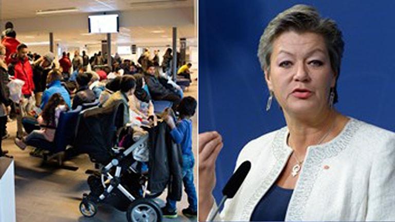 Regeringen tillsätter utredning om asylmottagandet, berätttade abretsmarknadsminister Ylva Johansson idag. Foto: Drago Prvulovic och Bertil Ericson/TT