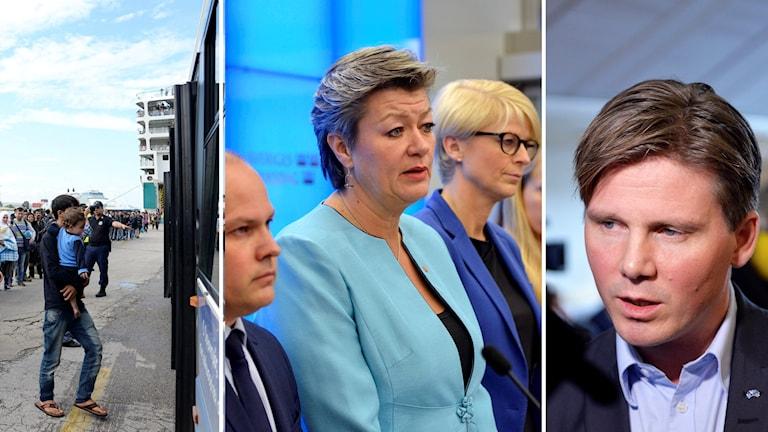 Folkpartiet vill att regeringen kallar till nya samtal kring flyktingsituationen. Foto: TT
