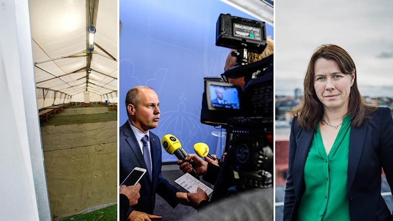 Åsa Romson ger sin ministerkollega rätt i hur ansträngd situationen är. Foto: TT