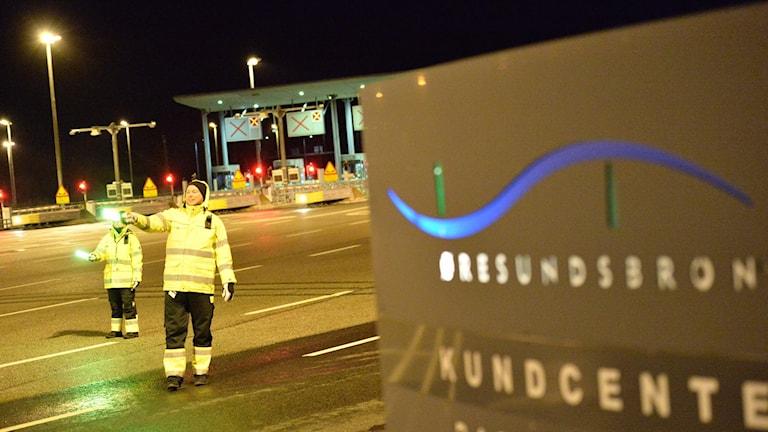 Öresundsbron stängd pga storm. Foto: Johan Nilsson/TT