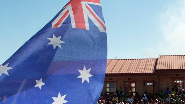 Australiens flagga. Foto: Rob Griffith/AP