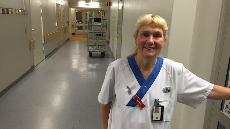 Överläkare Ann Edner avd 95 F Akademiska sjukhuset. Foto: Johan Bergendorff / Sveriges Radio