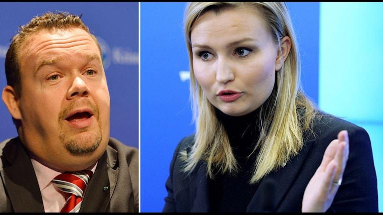 David Lega är en av de som är kritiska till partiledaren Ebba Bush Thors förslag. Foto: TT / Foto: Janerik Henriksson / TT